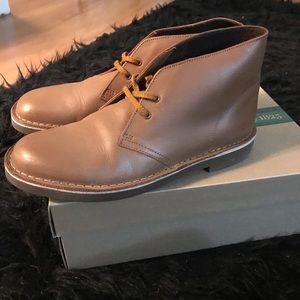 Clarks Tan Leather Bushacre 2 Sz 8